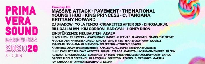 primavera sound 2020 jueves