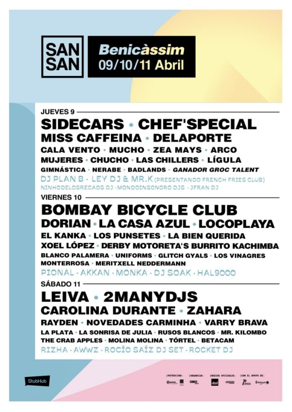 sansan festival 2020 cartel dias