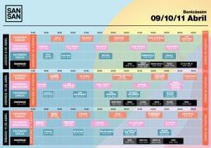 sansan festival 2020 horarios