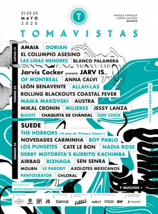 tomavistas 2020 cartel dias