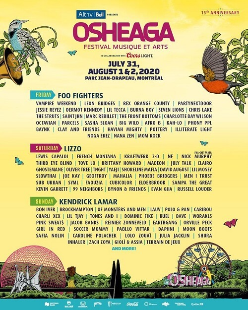 Cartel del Osheaga 2020