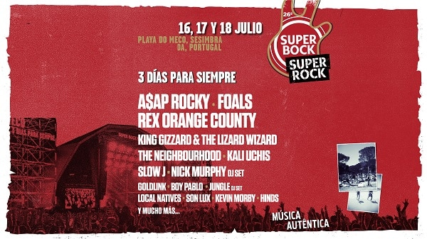 Line Up Super Bock Super Rock 2020