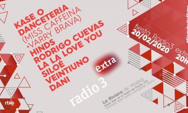 Fiesta Radio 3 Extra 2020 – Cartel con Kase.O, Dancetería, Hinds…