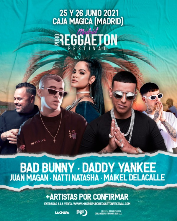 madrid puro reggaton festival 2021 cartel