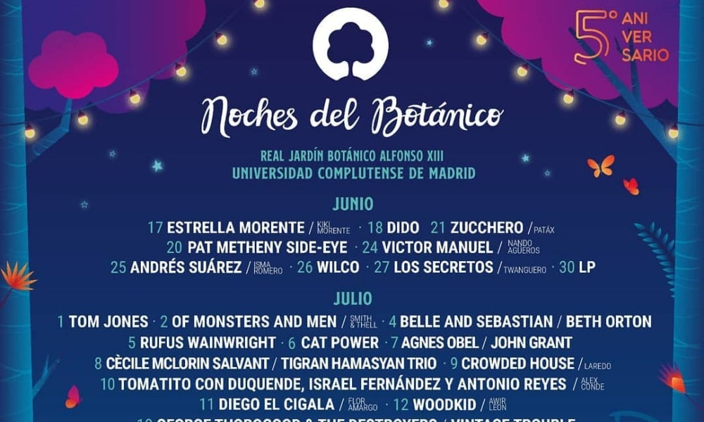 Noches del Botánico 2020 desvela su cartel: Tom Jones, Wilco, Cat Power…