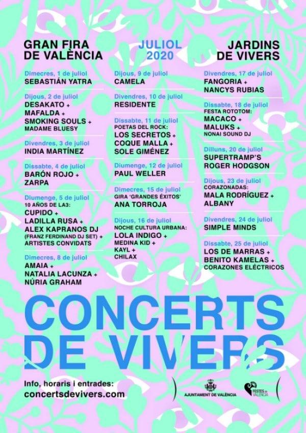 concerts de vivers 2020 cartel