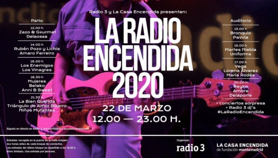 La Radio Encendida 2020 – Cartel, conciertos, entradas y horarios