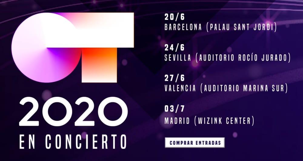 OT 2020 – Gira y conciertos por España | Entradas