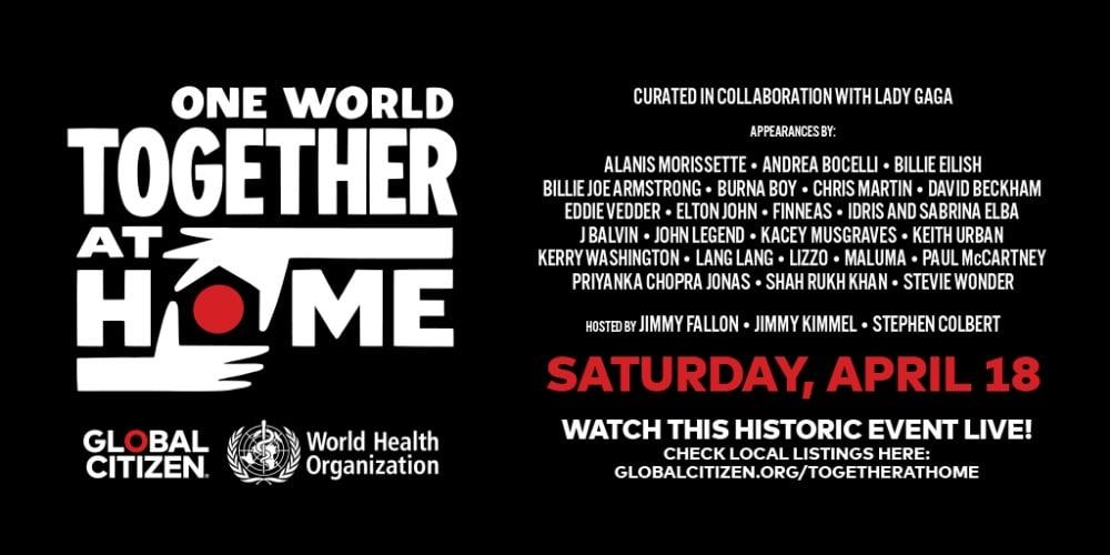 One World Together At Home – ¿Dónde verlo y qué artistas actúan? | Cartel