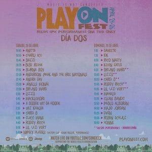 playonfest horario sabado