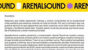 arenal sound comunicado