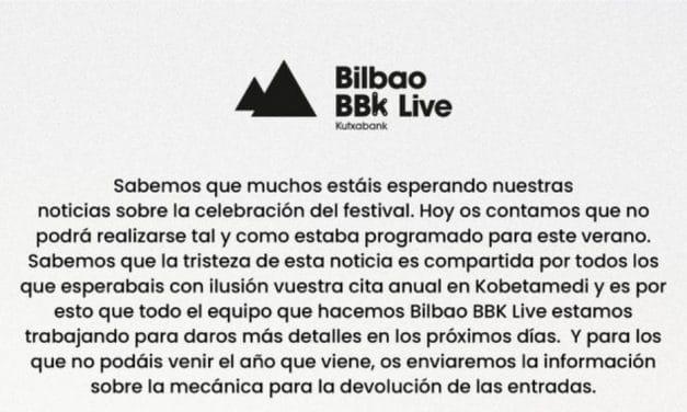 Bilbao BBK Live se pospone a 2021