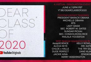 Dear Class of 2020 - Actuaciones de Lady Gaga, BTS, Zendaya... | Horarios