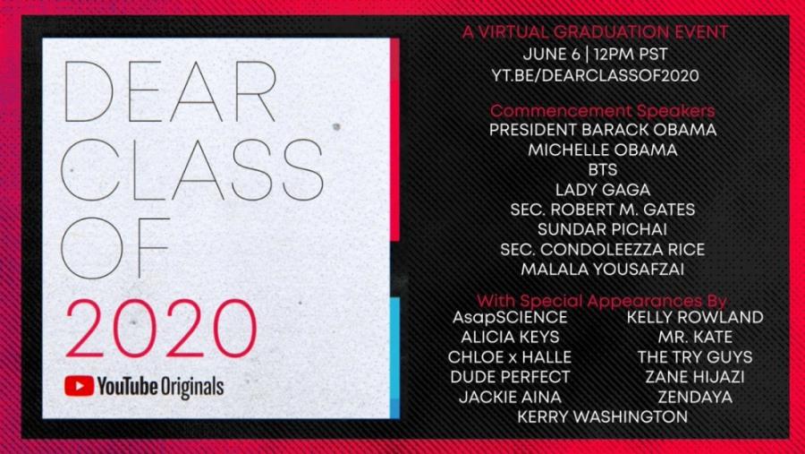 Dear Class of 2020 – Actuaciones de Lady Gaga, BTS, Zendaya… | Horarios