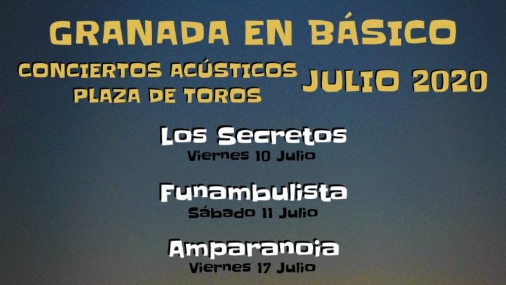 Granada en Básico 2020 – Conciertos, entradas, fechas y horarios