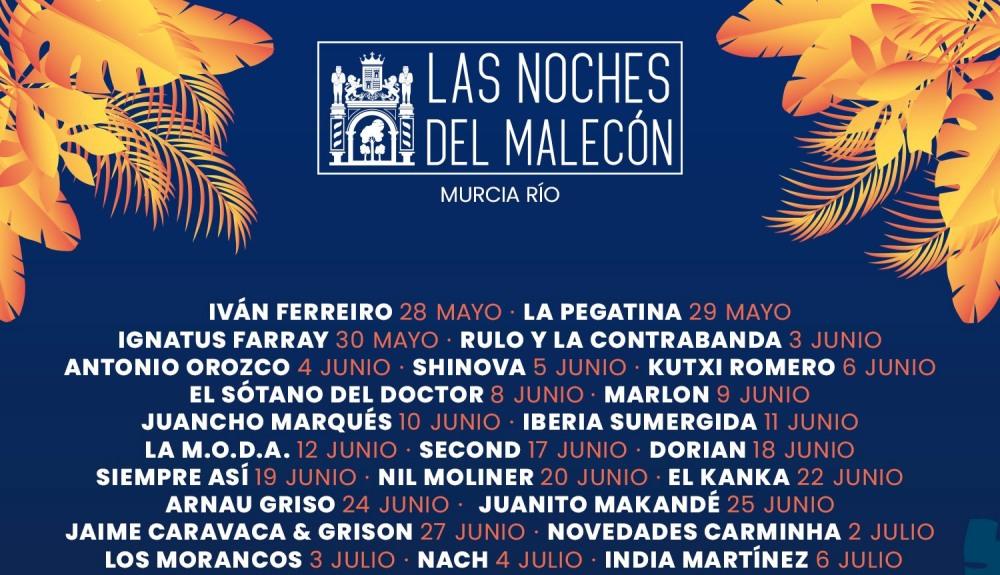 Las Noches del Malecón 2021 – Cartel, conciertos, entradas y horarios