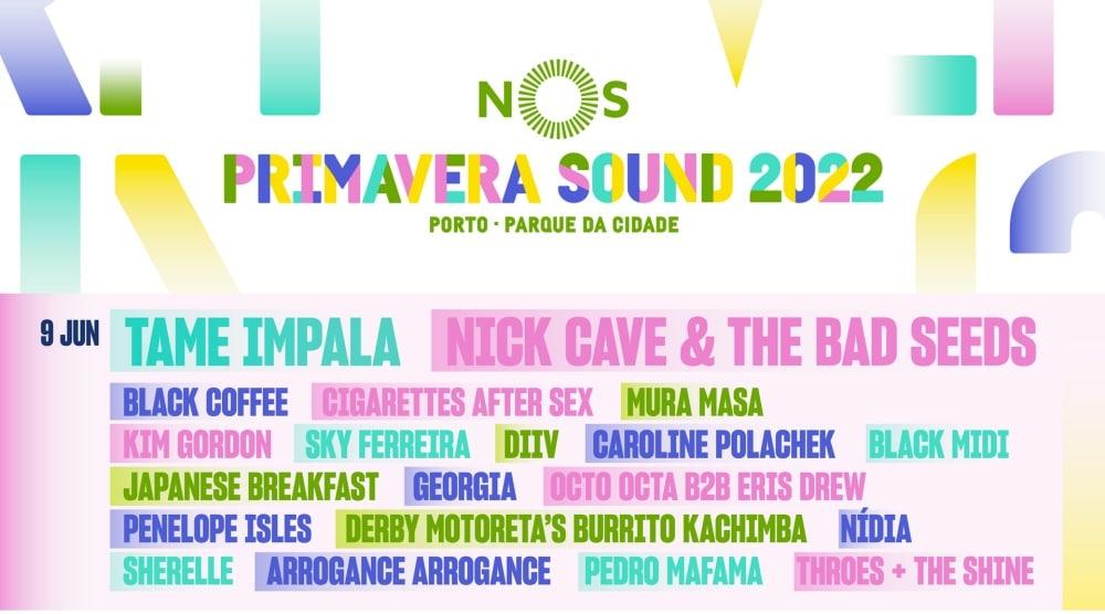 NOS Primavera Sound Porto 2022 – Cartel y entradas
