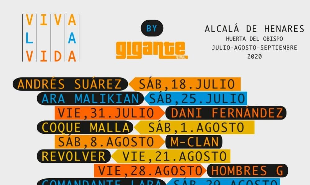 Viva la Vida by Gigante Festival 2020 – Cartel, conciertos y entradas