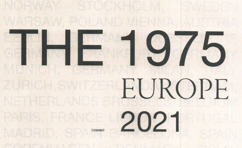 Conciertos de The 1975 en Madrid y Barcelona – 2021 – Entradas