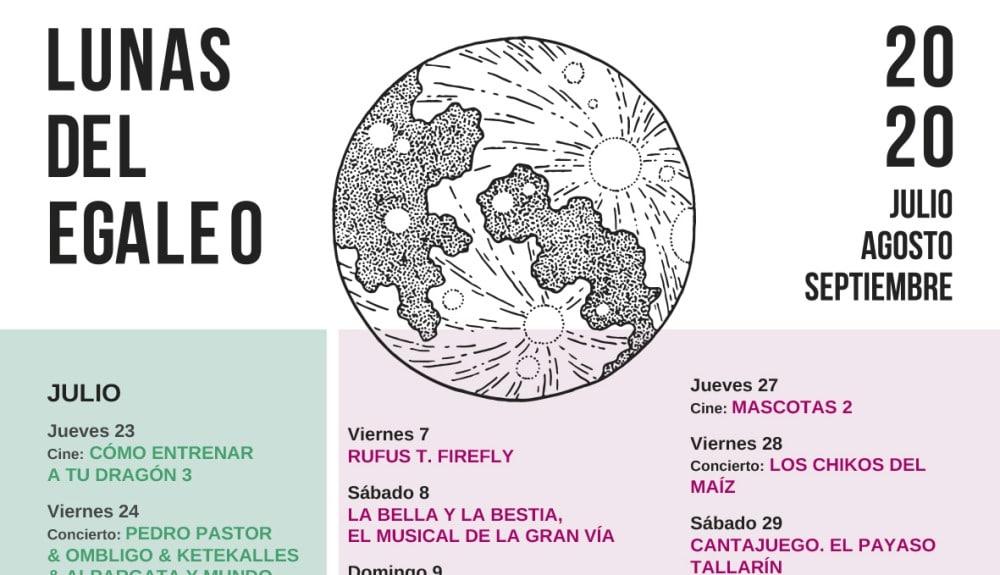 Las Lunas del Egaleo en Leganés 2020 – Conciertos, fechas y entradas | Coolturearte