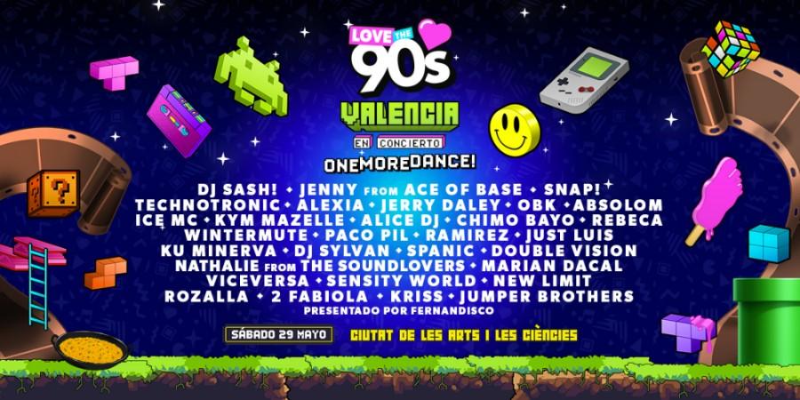 Love The 90s Valencia 2021 – Cartel y entradas