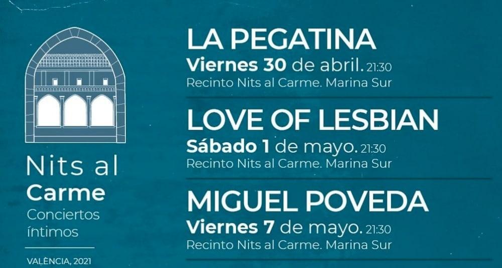 Nits al Carme en Valencia – 2021 – Conciertos, entradas y fechas
