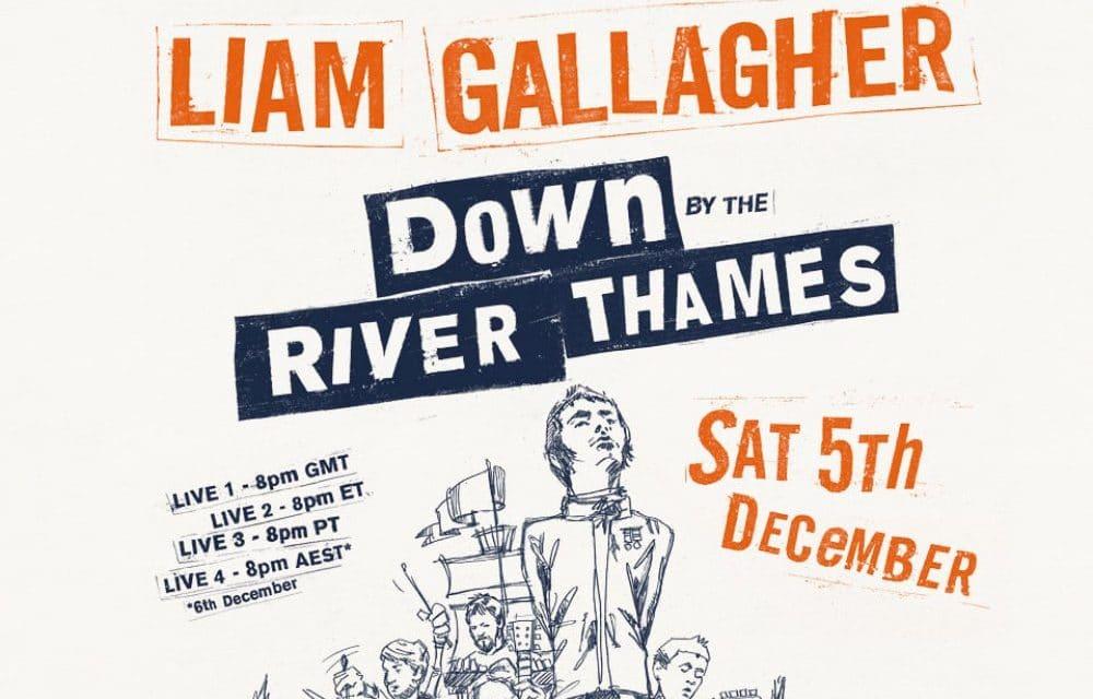 Liam Gallagher anuncia streaming desde el Río Támesis – Entradas