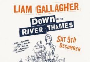 Liam Gallagher anuncia streaming desde el Río Támesis - Entradas