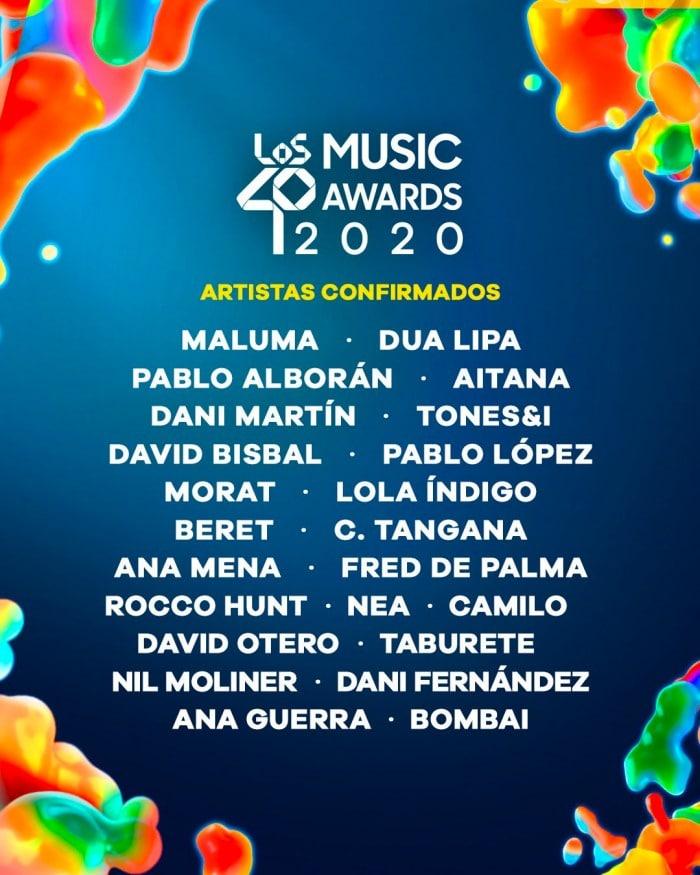 los40 music awards cartel