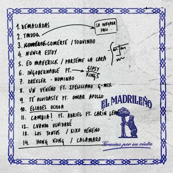 el madrileno tracklist