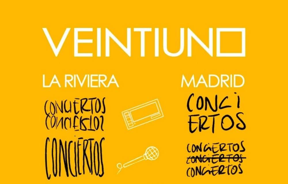 Concierto de Veintiuno en La Riviera – 2021 – Entradas