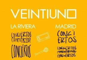Concierto de Veintiuno en La Riviera - 2021 - Entradas