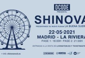 Conciertos de Shinova en Madrid - 2021 - Entradas La Riviera