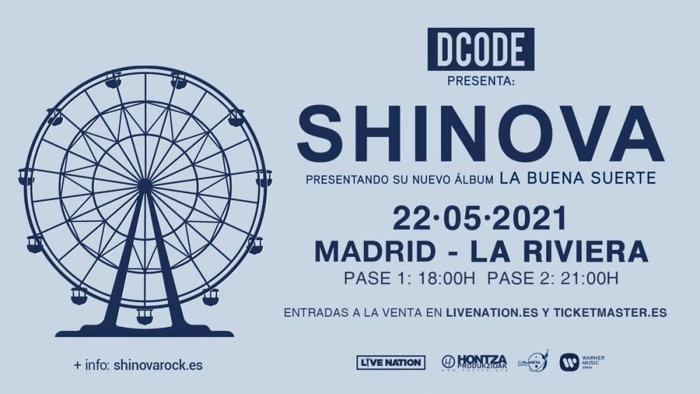 Conciertos de Shinova en Madrid – 2021 – Entradas La Riviera