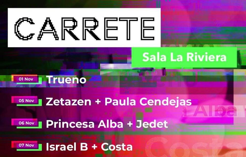 Ciclo CARRETE 2021 – Conciertos, cartel y entradas en La Riviera