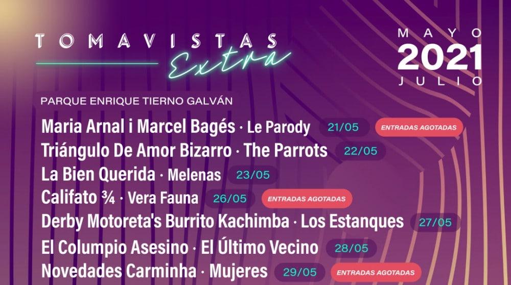 Tomavistas Extra 2021 – Conciertos, cartel y entradas