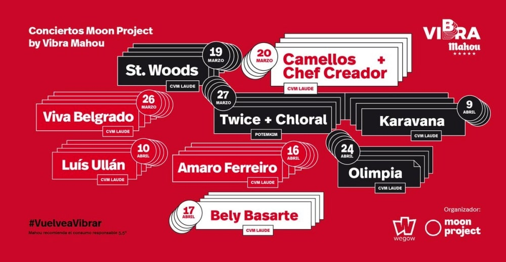 Conciertos Moon Project by Vibra Mahou en Salamanca – 2021 – Entradas