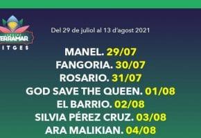Festival Jardins Terramar Sitges 2021 - Cartel, conciertos y entradas