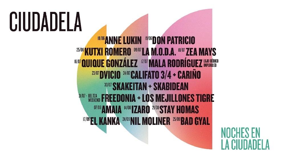Noches en la Ciudadela de Pamplona – 2021 – Conciertos y entradas
