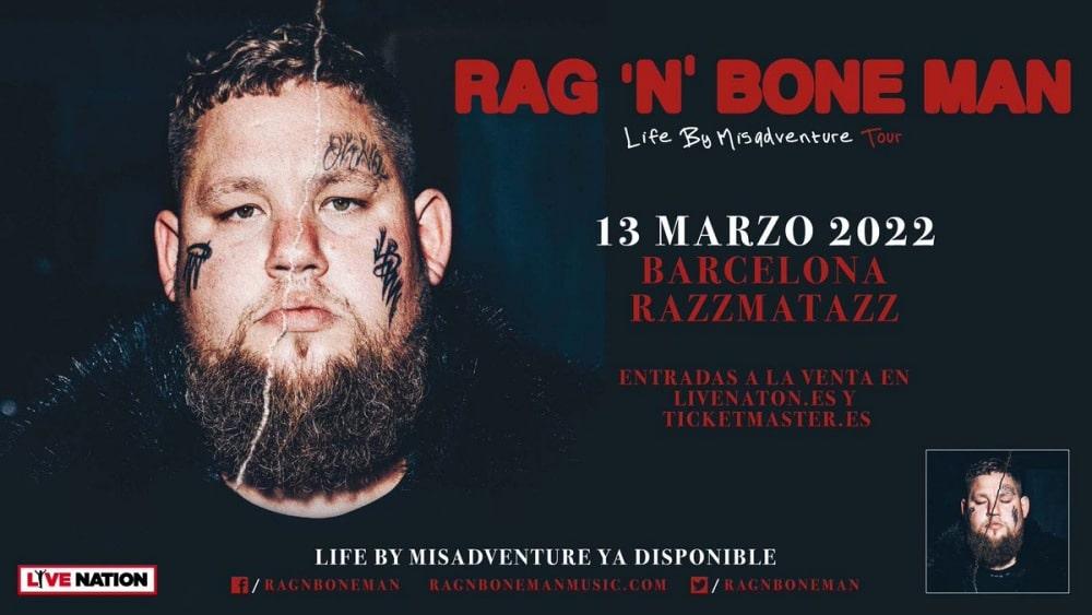 Concierto de Rag'n'Bone Man en Barcelona – 2022 – Entradas