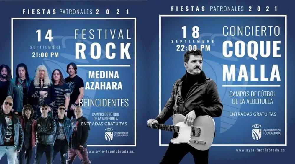 Fiestas de Fuenlabrada 2021 – Programación de conciertos, horarios y entradas