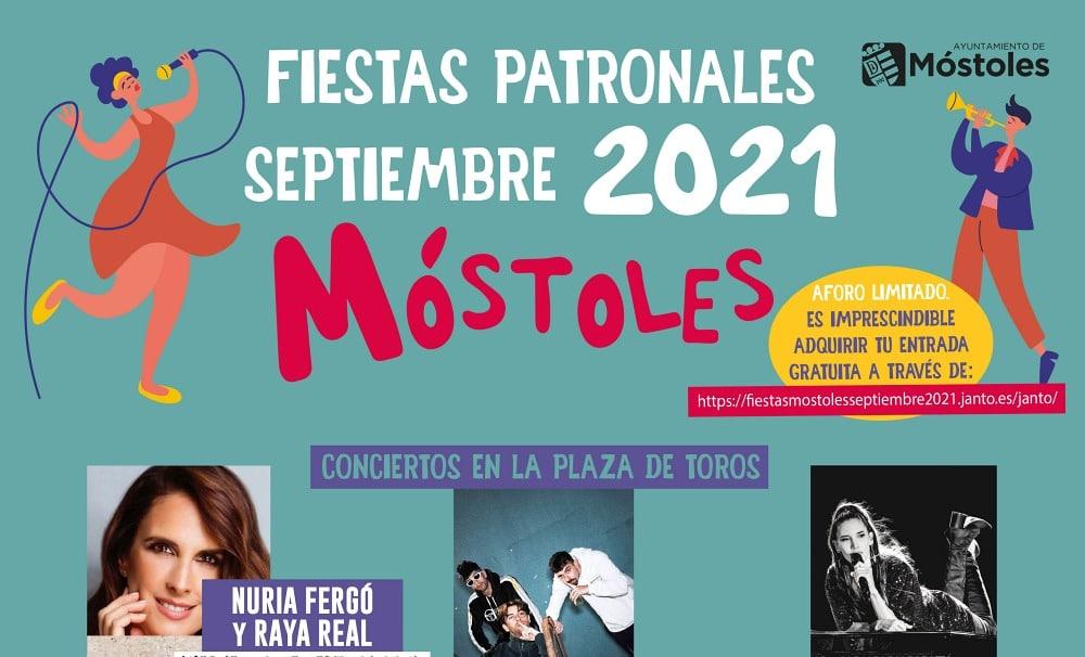 Fiestas de Móstoles 2021 – Programación de conciertos, horarios y entradas