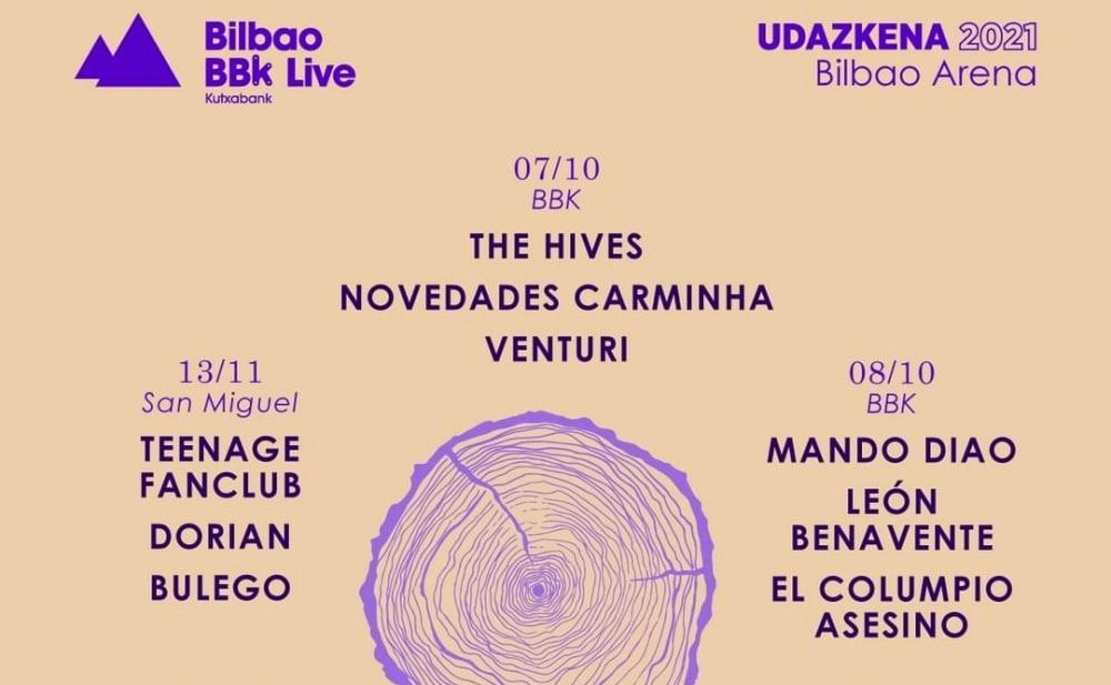 Ciclo Bilbao BBK Live Udazkena 2021 – Cartel y entradas