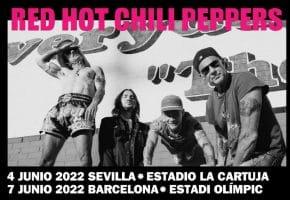Conciertos de Red Hot Chili Peppers en Barcelona y Sevilla - 2022 - Entradas